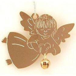 Personalized Little Golden Angel with Jingle Bell