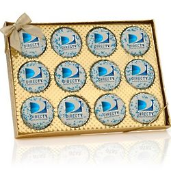 Gold Window Box of 12 Oreo Picture Cookies