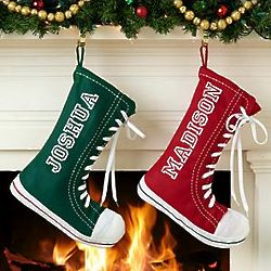 Personalized High Top Sneaker Stocking