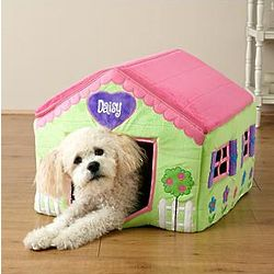 Personalized Plush Flower Pet House