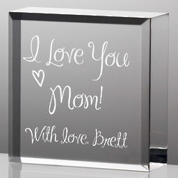 I Love You Mom Personalized Plaque