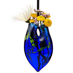 Glass Hanging Heart Vase