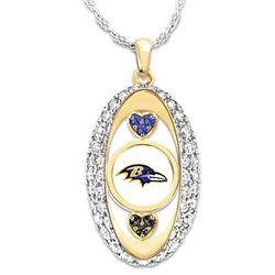 For The Love Of The Game Baltimore Ravens Necklace
