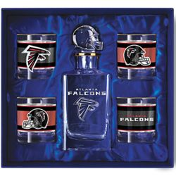 Atlanta Falcons Decanter and Glasses Barware Gift Set