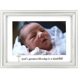 'God's Greatest Blessing Is A Godchild' Photo Frame