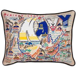 Embroidered US Navy Throw Pillow