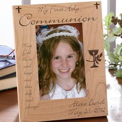 Personalized First Communion Picture Frame - Blessed Sacrament