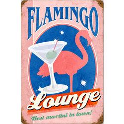 Flamingo Lounge Metal Sign