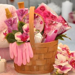 Pampered in Pink Bath & Body Basket