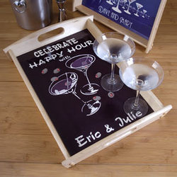 Martini Duet Personalized Small Serving Tray