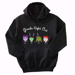 Personalized Apparel Ghouls Night Out Halloween Youth Hoodie