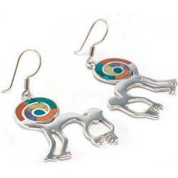 Nazca Monkey Jasper and Serpentine Earrings