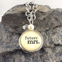 Future Mrs. Bubble Charm Necklace
