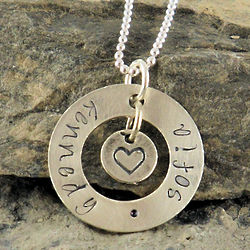 Circle My Heart Hand Stamped Necklace