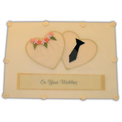 On Your Wedding Bride and Groom Greeting Card
