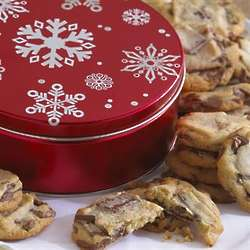White Flakes of Snow Gourmet Cookie Tin