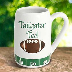 Personalized Tailgater Football Beer Mug