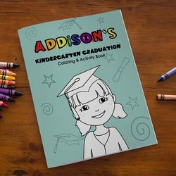 Kindergarten or Preschool Graduation Coloring Book