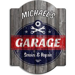 Vintage Personalized Garage Sign