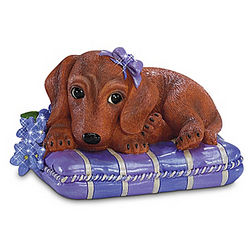 Love Never Forgets Alzheimer's Research Dachshund Figurine