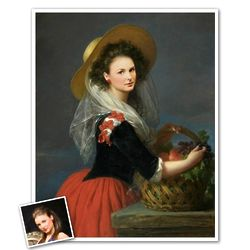 Portrait of Duchesse Marie Custom Art Print from Photo