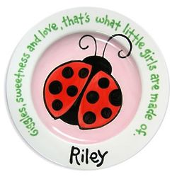 Baby's Personalized Ladybug Plate