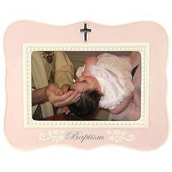 Pink Baptism Frame