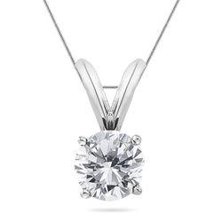 1/4 Ct Round Diamond Solitaire Pendant in Platinum