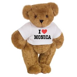 "15"" ""I Heart You"" Personalized T-Shirt Teddy Bear"