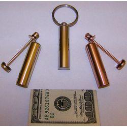 Engravable Mini II Key Ring Money Holder