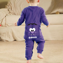 Personalized Infant Halloween Vampire Long Johns
