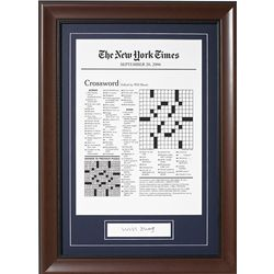 Pick-a-Date Crossword Keepsake with Will Shortz Autograph