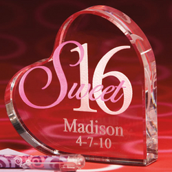 Personalized Sweet 16 or Quinceanera Heart