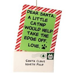 Letter to Santa Ornament from the Cat