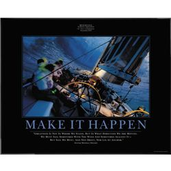 Make It Happen Framed Motivational Poster