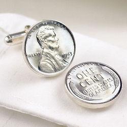 1943 Lincoln Steel Penny Cufflinks