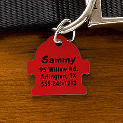 Engraved Fire Hydrant Dog Identification Tags