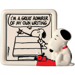 Snoopy Writing Plaque