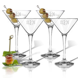 Personalized Clarus Cocktail Glasses