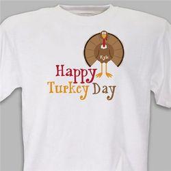 Personalized Happy Turkey Day T-Shirt