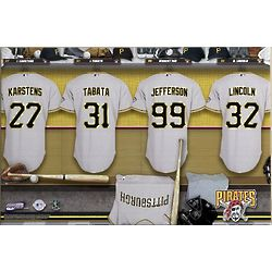 Personalized Pittsburgh Pirates 24x36 Baseball Locker Room Canvas