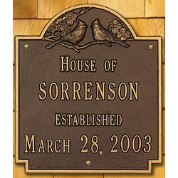 Personalized Aluminum Family Name House Plaque