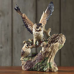 Owl Family Figurine
