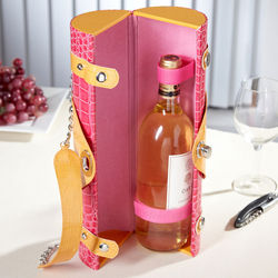 Pink Fusion Croc Wine Tote