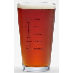 Single Beer Pint Glass