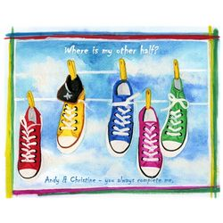 Hanging Shoes Personalized Art Print