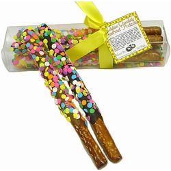 Gift Box of 4 Confetti Pretzel Wands