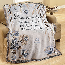 Personalized Grandmother Throw Blanket