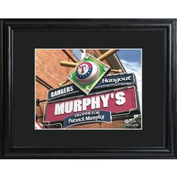 Personalized Texas Rangers Pub Sign Print