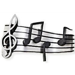 Sterling Music Measure Brooch Pin